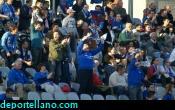 Gol del Puertollano y alegria en la grada azul