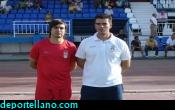 z- Ladis y Jacobo Maestre antes de comenzar el partido